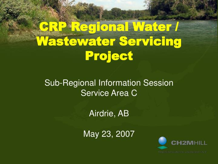 crp regional water wastewater servicing project n.