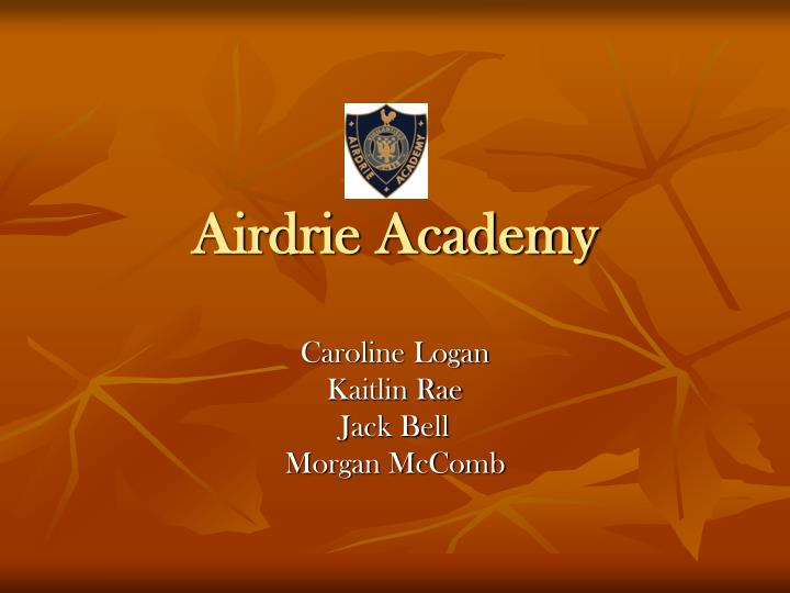 airdrie academy n.