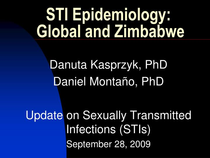 sti epidemiology global and zimbabwe n.