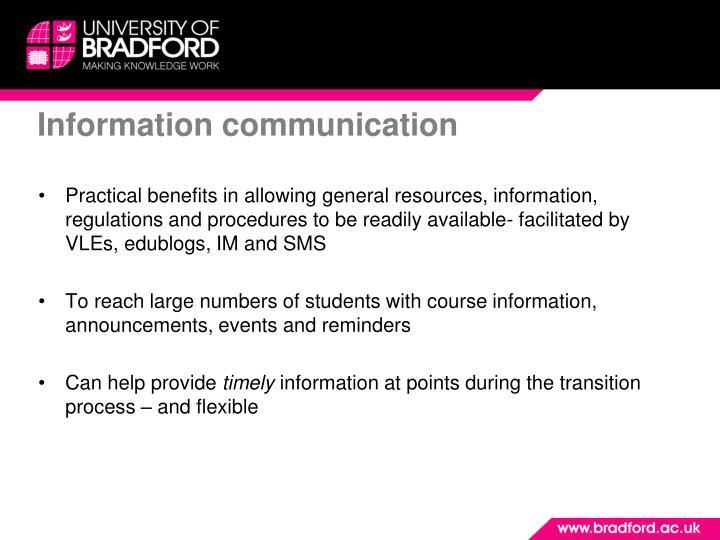 Information communication