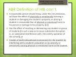 abr definition of hib con t
