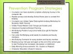 prevention program strategies