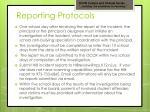 reporting protocols