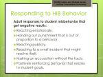 responding to hib behavior