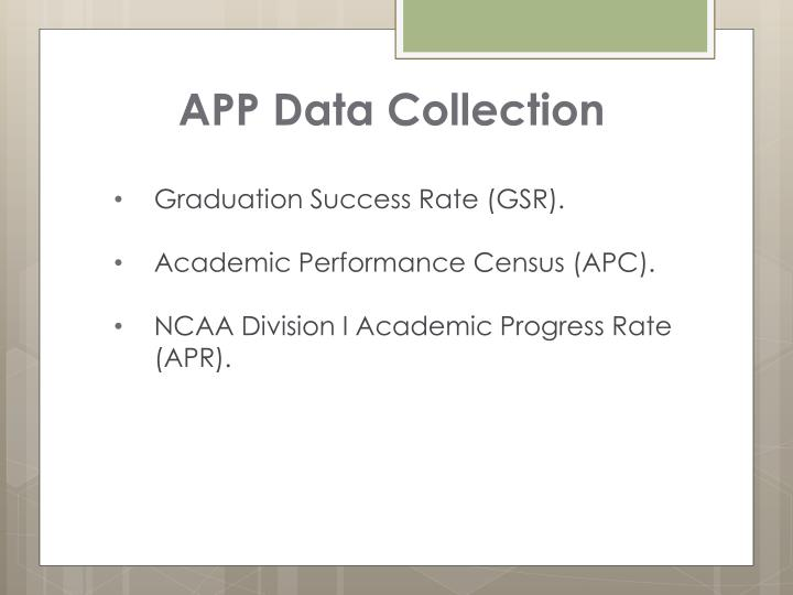 APP Data Collection