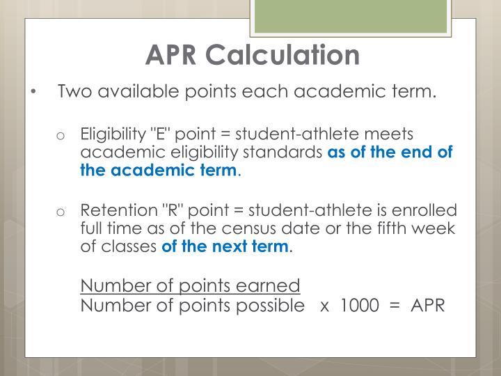 APR Calculation