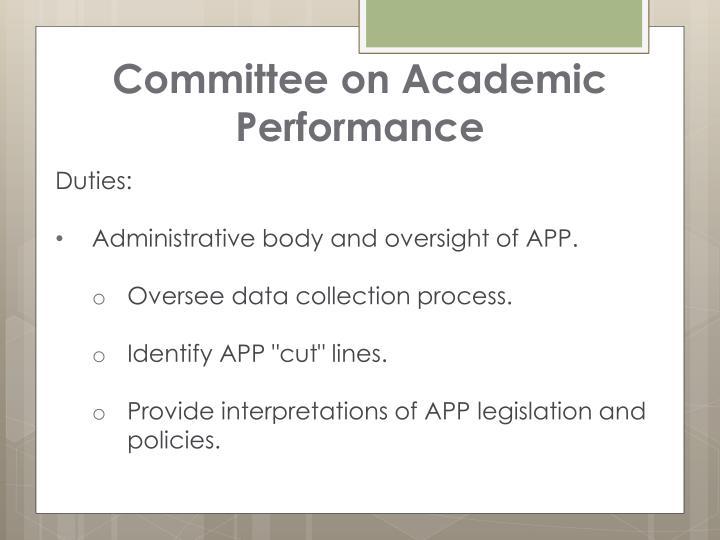 Committee on Academic Performance