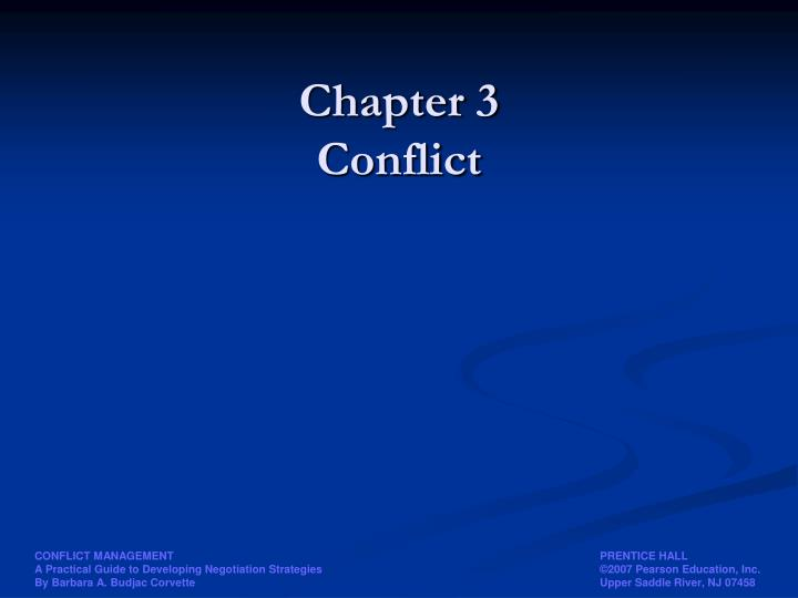 chapter 3 conflict n.