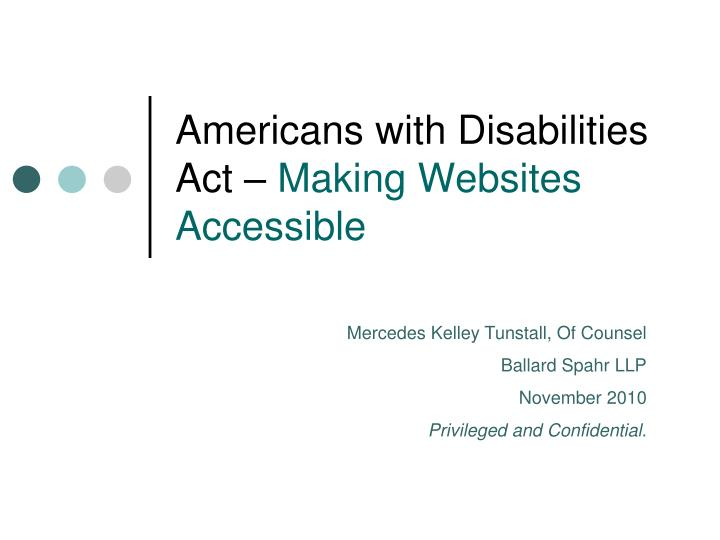americans with disabilities act making websites accessible n.