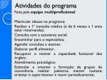 atividades do programa