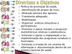 diretrizes e objetivos