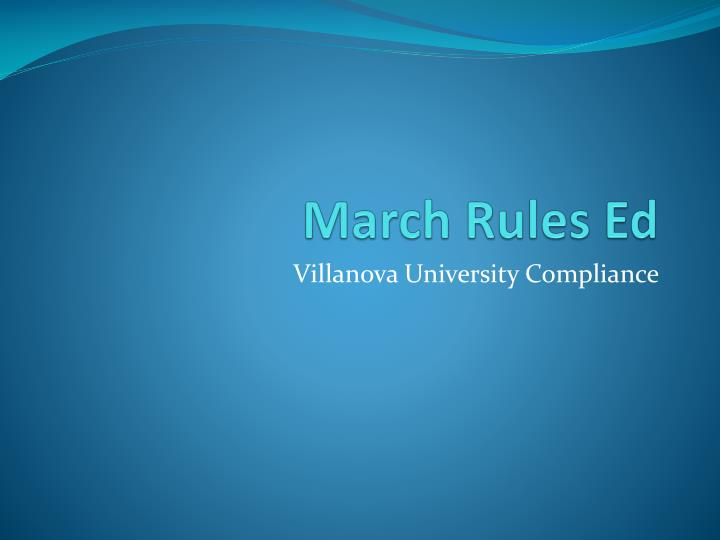 march rules ed n.