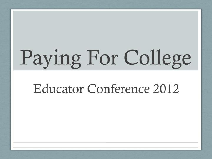 paying for college n.