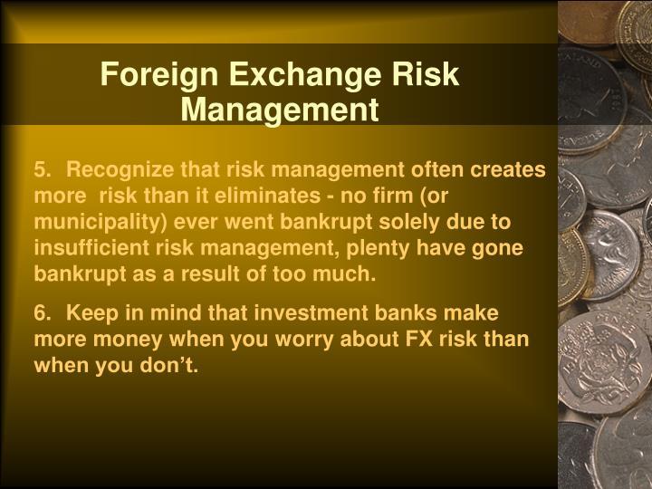 Foreign Exchange Risk Management