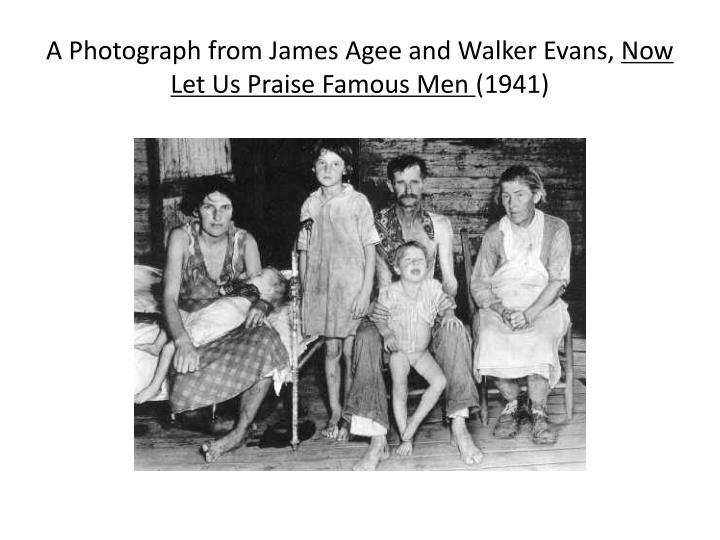 A Photograph from James Agee and Walker Evans,