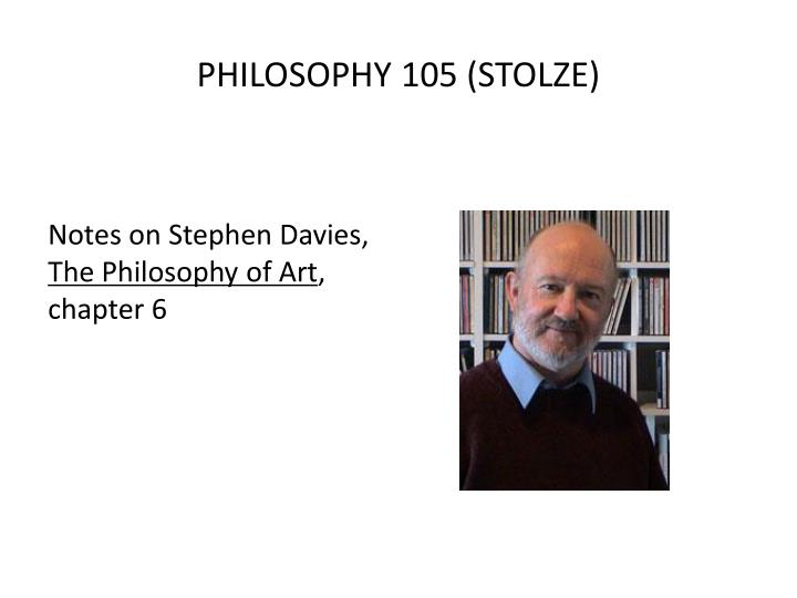 Philosophy 105 stolze