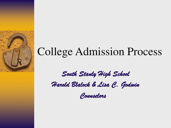 college admission process n.