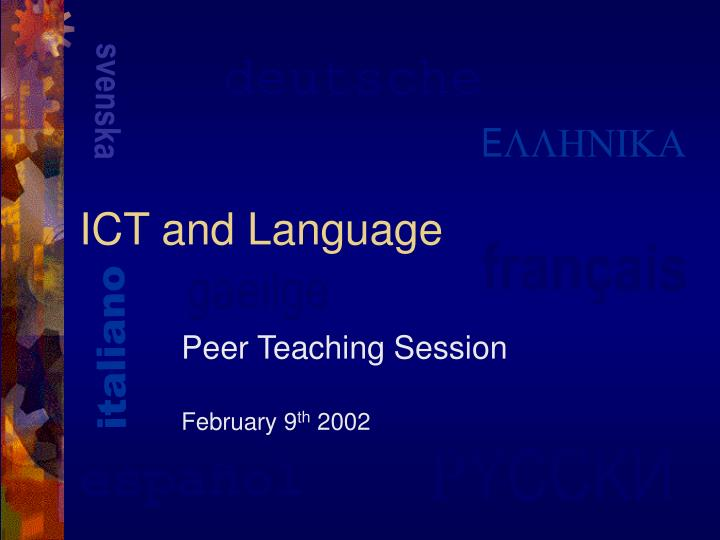 ict and language n.