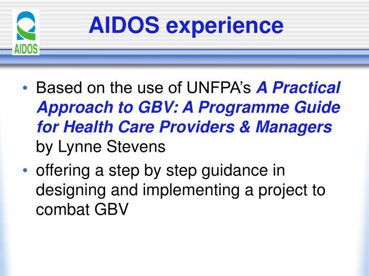 Aidos experience
