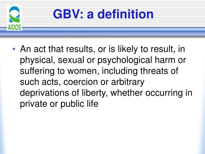 Gbv a definition