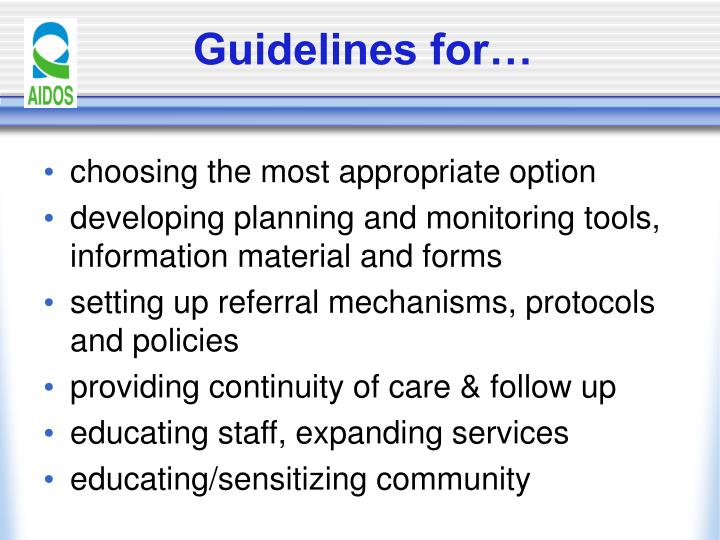Guidelines for…