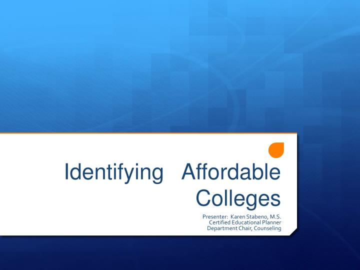 identifying affordable colleges n.