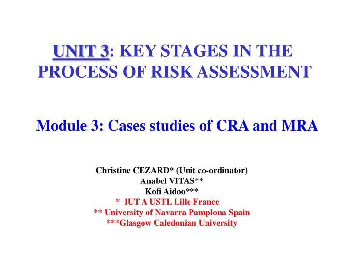 module 3 cases studies of cra and mra n.