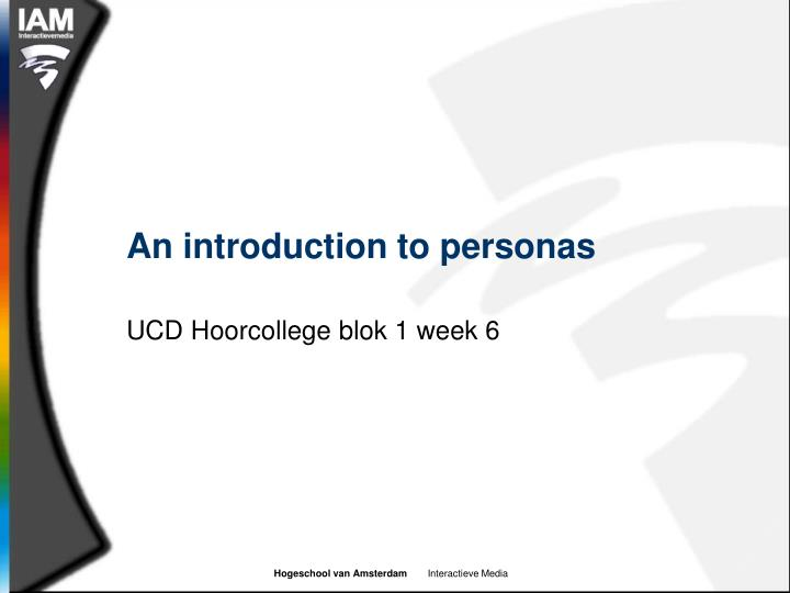 an introduction to personas n.