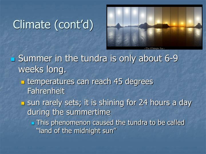 Climate (cont'd)