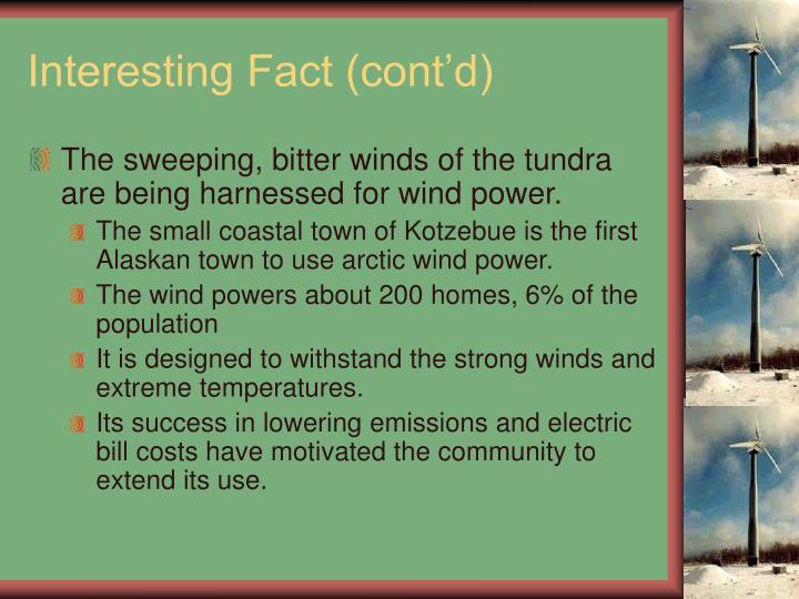 Interesting Fact (cont'd)