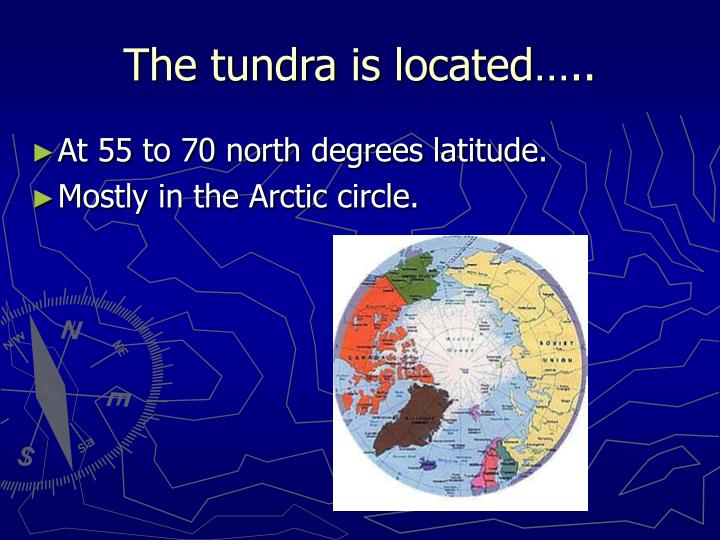 The tundra is located…..