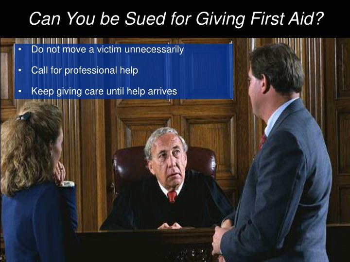 Can You be Sued for Giving First Aid?