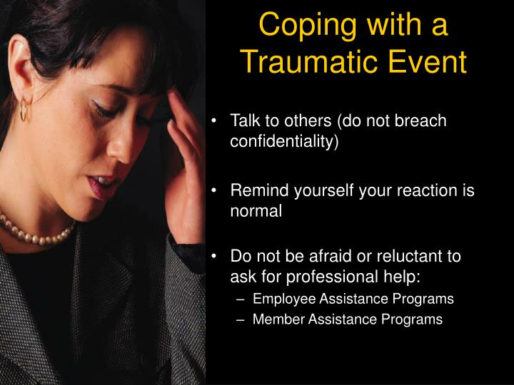 Coping with a Traumatic Event