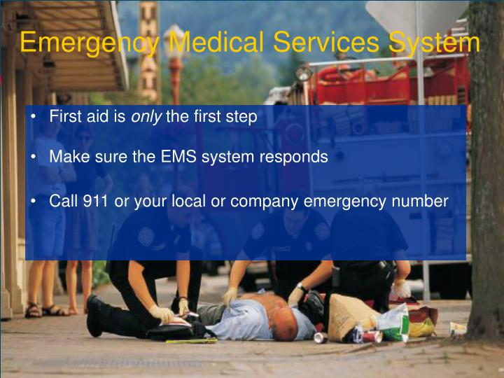 Emergency medical services system