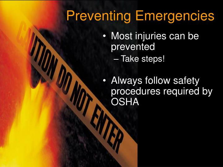 Preventing Emergencies