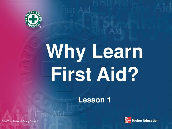 Why learn first aid