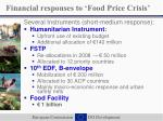 financial responses to food price crisis