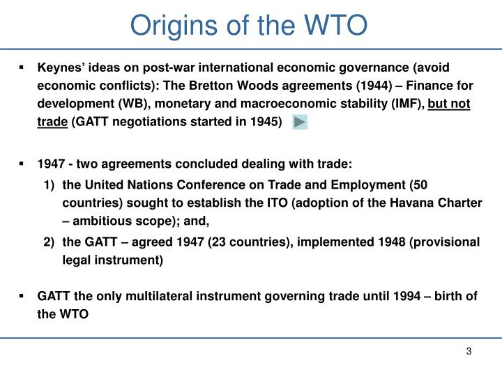 Ppt Two Multilateral Institutions Dealing With Trade A Brief