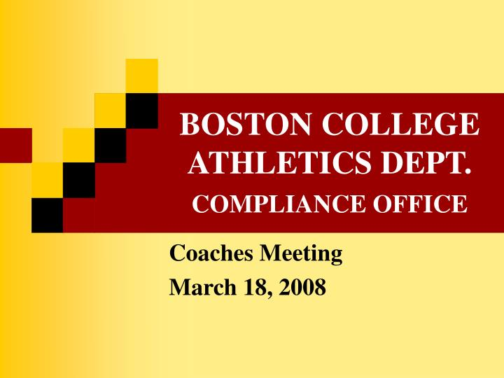 boston college athletics dept compliance office n.