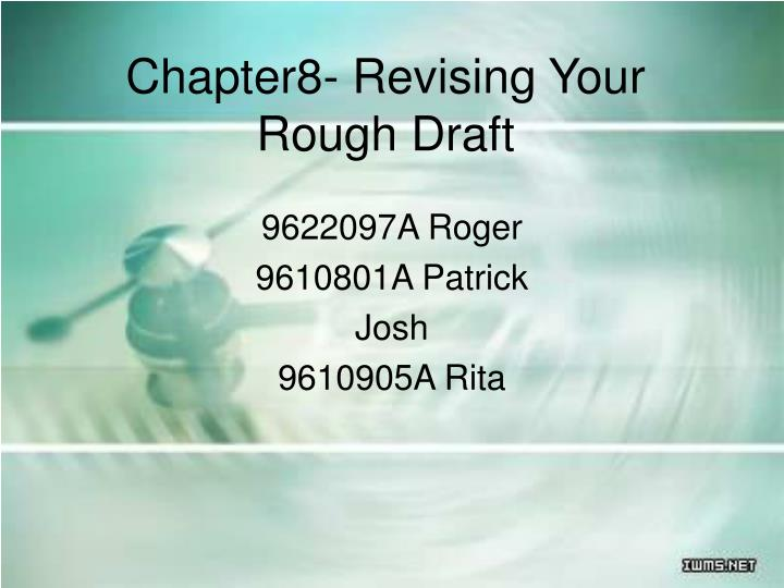 chapter8 revising your rough draft n.