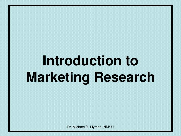 introduction to marketing research n.
