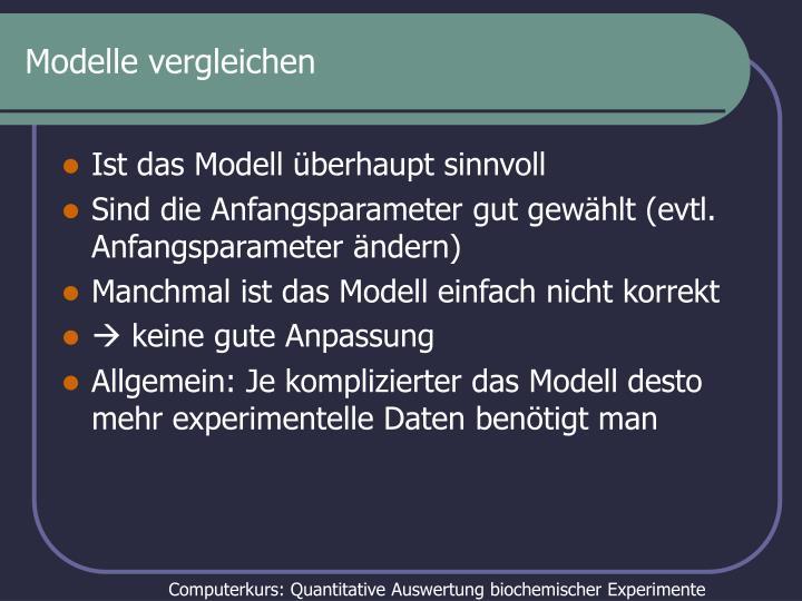 Modelle vergleichen