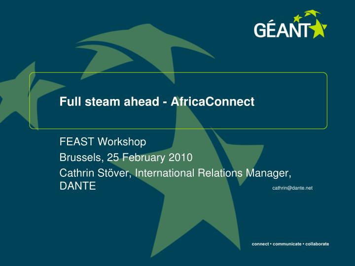 full steam ahead africaconnect n.