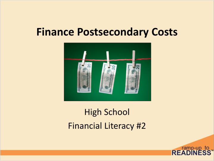 finance postsecondary costs n.