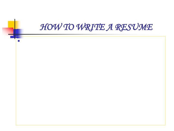 how to write a resume n.