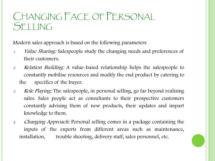 Ppt sales management amp personal selling powerpoint changing face of personal selling fandeluxe Choice Image
