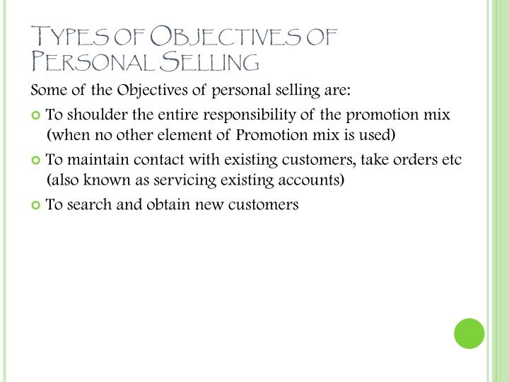 Ppt sales management amp personal selling powerpoint types of objectives of personal selling fandeluxe Choice Image