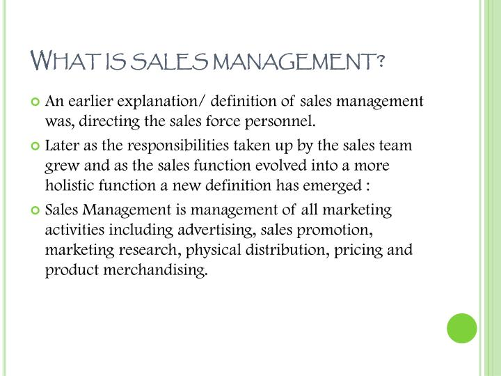 Ppt sales management amp personal selling powerpoint what is sales management fandeluxe Choice Image
