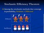 stochastic efficiency theorem