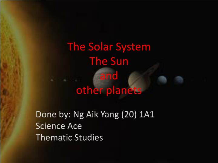 the solar system the sun and other planets n.